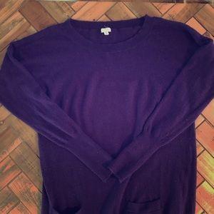 Purple JCrew sweater dress- size small